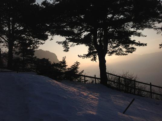 vue Est (  lever de soleil )